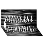 Black an white  Chill out  Congrats Graduate 3D Greeting Card (8x4)