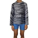 Black an white  Chill out  Kids  Long Sleeve Swimwear