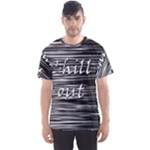Black an white  Chill out  Men s Sport Mesh Tee