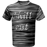 Black an white  Chill out  Men s Cotton Tee