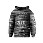 Black an white  Chill out  Kids  Pullover Hoodie