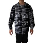 Black an white  Chill out  Hooded Wind Breaker (Kids)