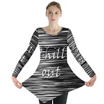 Black an white  Chill out  Long Sleeve Tunic