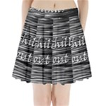 Black an white  Chill out  Pleated Mini Skirt