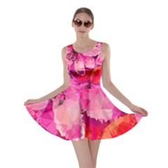 Geometric Magenta Garden Skater Dress by DanaeStudio