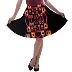 Alphabet Shirt A Line Skater Skirt by MRTACPANS