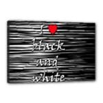 I love black and white 2 Canvas 18  x 12