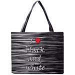 I love black and white 2 Mini Tote Bag