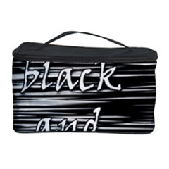 I Love Black And White 2 Cosmetic Storage Case by Valentinaart