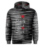 I love black and white 2 Men s Zipper Hoodie