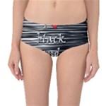 I love black and white 2 Mid-Waist Bikini Bottoms