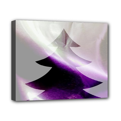 Purple Christmas Tree Canvas 10  X 8  by yoursparklingshop