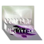 Purple Christmas Tree YOU ARE INVITED 3D Greeting Card (7x5)