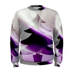 Purple Christmas Tree Men s Sweatshirt by yoursparklingshop