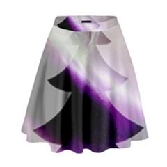 Purple Christmas Tree High Waist Skirt by yoursparklingshop