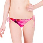 Geometric Magenta Garden Bikini Bottom