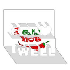 I am hot  Get Well 3D Greeting Card (7x5) by Valentinaart