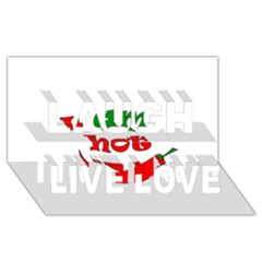 I Am Hot  Laugh Live Love 3d Greeting Card (8x4) by Valentinaart