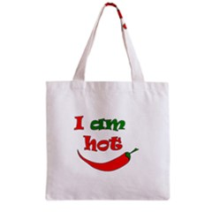 I Am Hot  Grocery Tote Bag by Valentinaart
