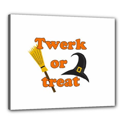 Twerk Or Treat   Funny Halloween Design Canvas 24  X 20  by Valentinaart