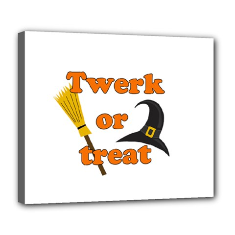 Twerk Or Treat   Funny Halloween Design Deluxe Canvas 24  X 20   by Valentinaart