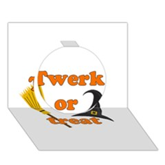 Twerk Or Treat   Funny Halloween Design Circle 3d Greeting Card (7x5) by Valentinaart