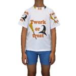 Twerk or treat - Funny Halloween design Kids  Short Sleeve Swimwear