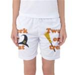 Twerk or treat - Funny Halloween design Women s Basketball Shorts