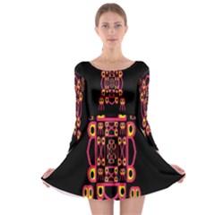 Alphabet Shirt Long Sleeve Skater Dress by MRTACPANS