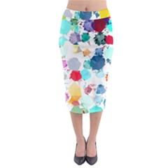 Colorful Diamonds Dream Midi Pencil Skirt by DanaeStudio