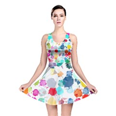 Colorful Diamonds Dream Reversible Skater Dress by DanaeStudio