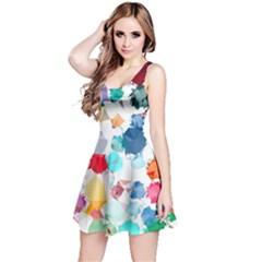 Colorful Diamonds Dream Reversible Sleeveless Dress by DanaeStudio