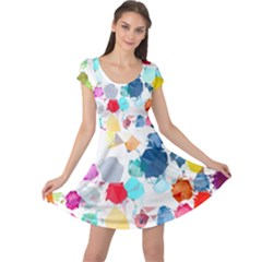 Colorful Diamonds Dream Cap Sleeve Dress by DanaeStudio