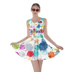 Colorful Diamonds Dream Skater Dress by DanaeStudio
