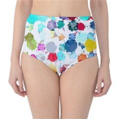 Colorful Diamonds Dream High Waist Bikini Bottoms by DanaeStudio