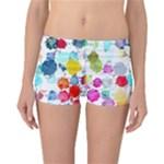 Colorful Diamonds Dream Reversible Boyleg Bikini Bottoms