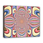 Pastel Shades Ornamental Flower Deluxe Canvas 24  x 20