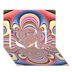 Pastel Shades Ornamental Flower I Love You 3d Greeting Card (7x5) by designworld65