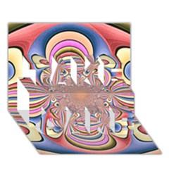 Pastel Shades Ornamental Flower Take Care 3d Greeting Card (7x5) by designworld65