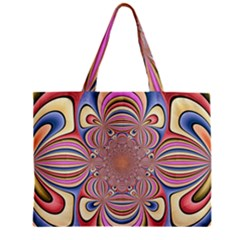 Pastel Shades Ornamental Flower Zipper Mini Tote Bag by designworld65