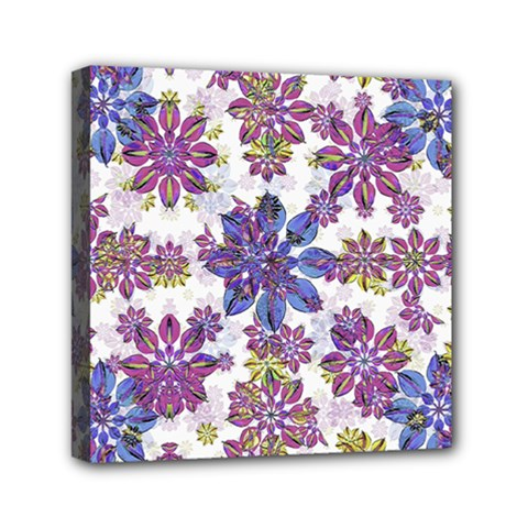 Stylized Floral Ornate Pattern Mini Canvas 6  X 6  by dflcprints