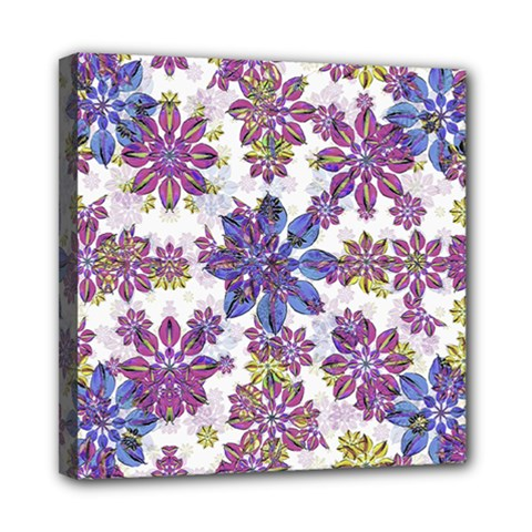 Stylized Floral Ornate Pattern Mini Canvas 8  X 8  by dflcprints