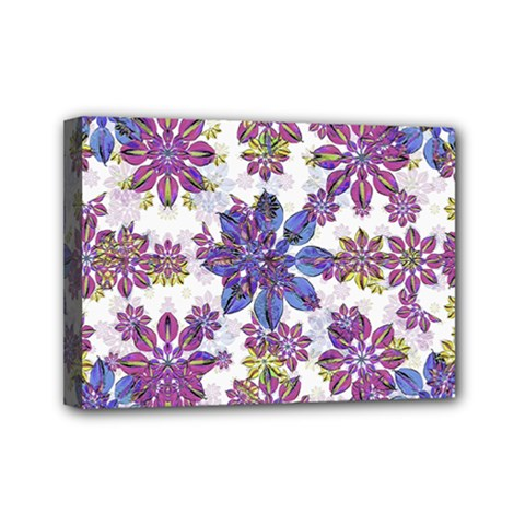 Stylized Floral Ornate Pattern Mini Canvas 7  X 5  by dflcprints