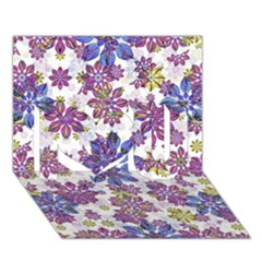 Stylized Floral Ornate Pattern I Love You 3d Greeting Card (7x5) by dflcprints