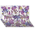 Stylized Floral Ornate Pattern Happy Birthday 3D Greeting Card (8x4)