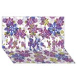 Stylized Floral Ornate Pattern #1 MOM 3D Greeting Cards (8x4)
