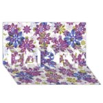 Stylized Floral Ornate Pattern PARTY 3D Greeting Card (8x4)