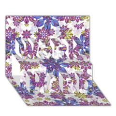 Stylized Floral Ornate Pattern Work Hard 3d Greeting Card (7x5) by dflcprints
