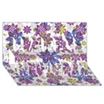 Stylized Floral Ornate Pattern Happy New Year 3D Greeting Card (8x4)