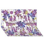 Stylized Floral Ornate Pattern Laugh Live Love 3D Greeting Card (8x4)